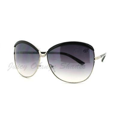 Designer Fashion Women's Sunglasses Oversize Butterfly Frame