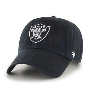 2758df601320b Los Angeles Oakland Raiders 47 Brand Clean Up Black Adjustable Field ...
