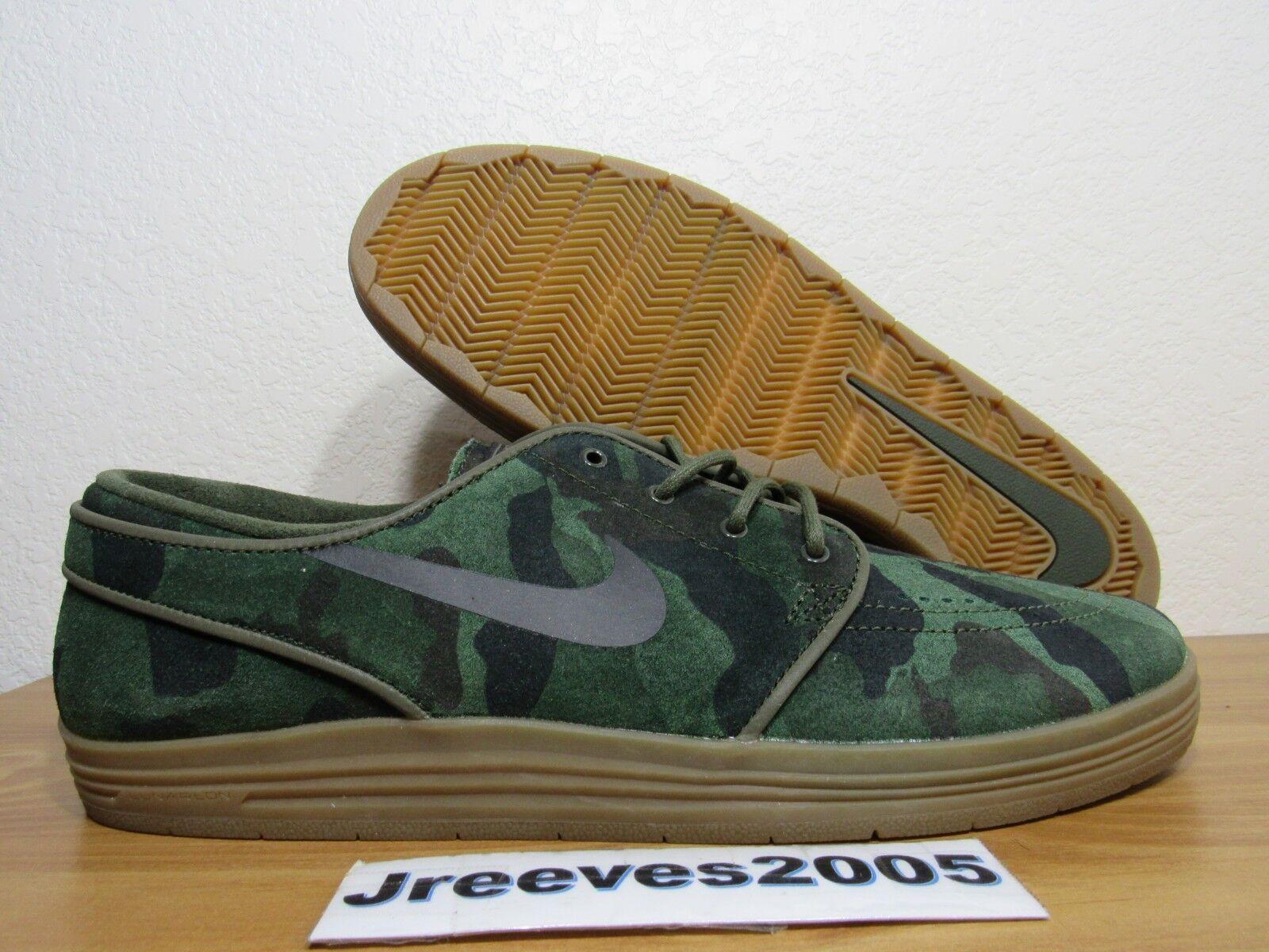 Nike Lunar Stefan Janoski QS Sz 10 100% Authentic CAMO 669563 302