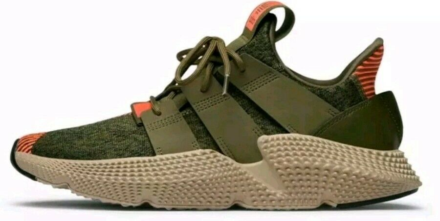 ADIDAS ORIGINALS PROPHERE  CQ2127 MEN CASUAL SHOES TRACE OLIVE SOLAR RED Size 9