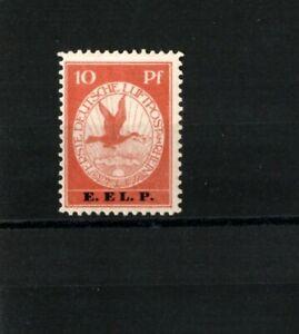 1912-German-Reich-10-pf-Rhein-und-Main-Air-E-EL-P-Mi-Nr-V-SIGNED-MNH