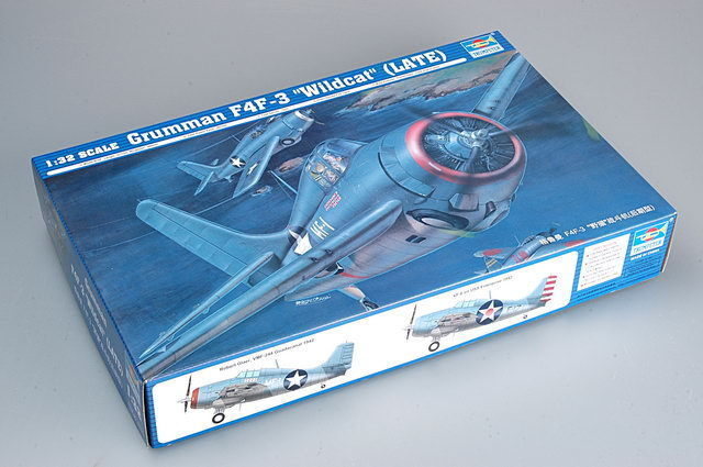 Trumpeter 02225 Grumman F4F-3 Wildcat Hunting Aircraft Fighter Model Plane 1 32