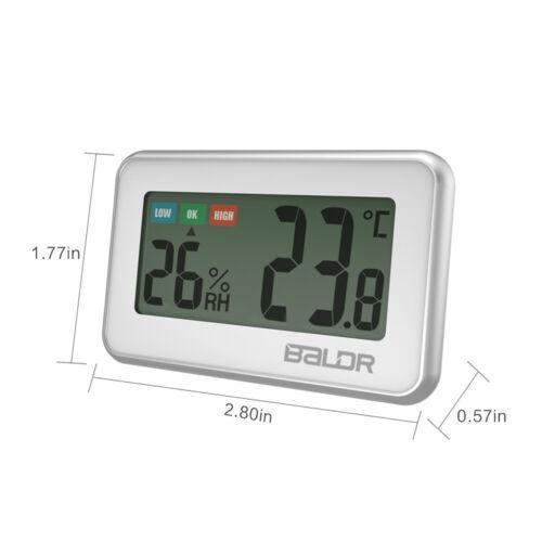 Baldr B0217 Mini Digital LCD Indoor Thermometer Hygrometer Humidity Meter Fridge