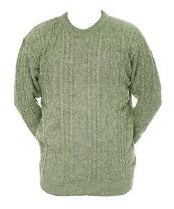 Mens-M-L-XL-New-Crew-Neck-Green-Jumper-Acrylic-Wool-Mix-Pullover-Sweater-LICK