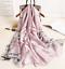 miniature 6 - Grande-Echarpe-Foulard-Chale-Cadeau-Femme-100-Soie-Parme-Elegant-Chic-Style-Mode