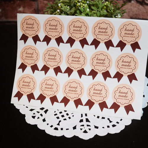 #Handmade Letters Medal Shaper Good Paper Stickers Decorative Homemade Bakery