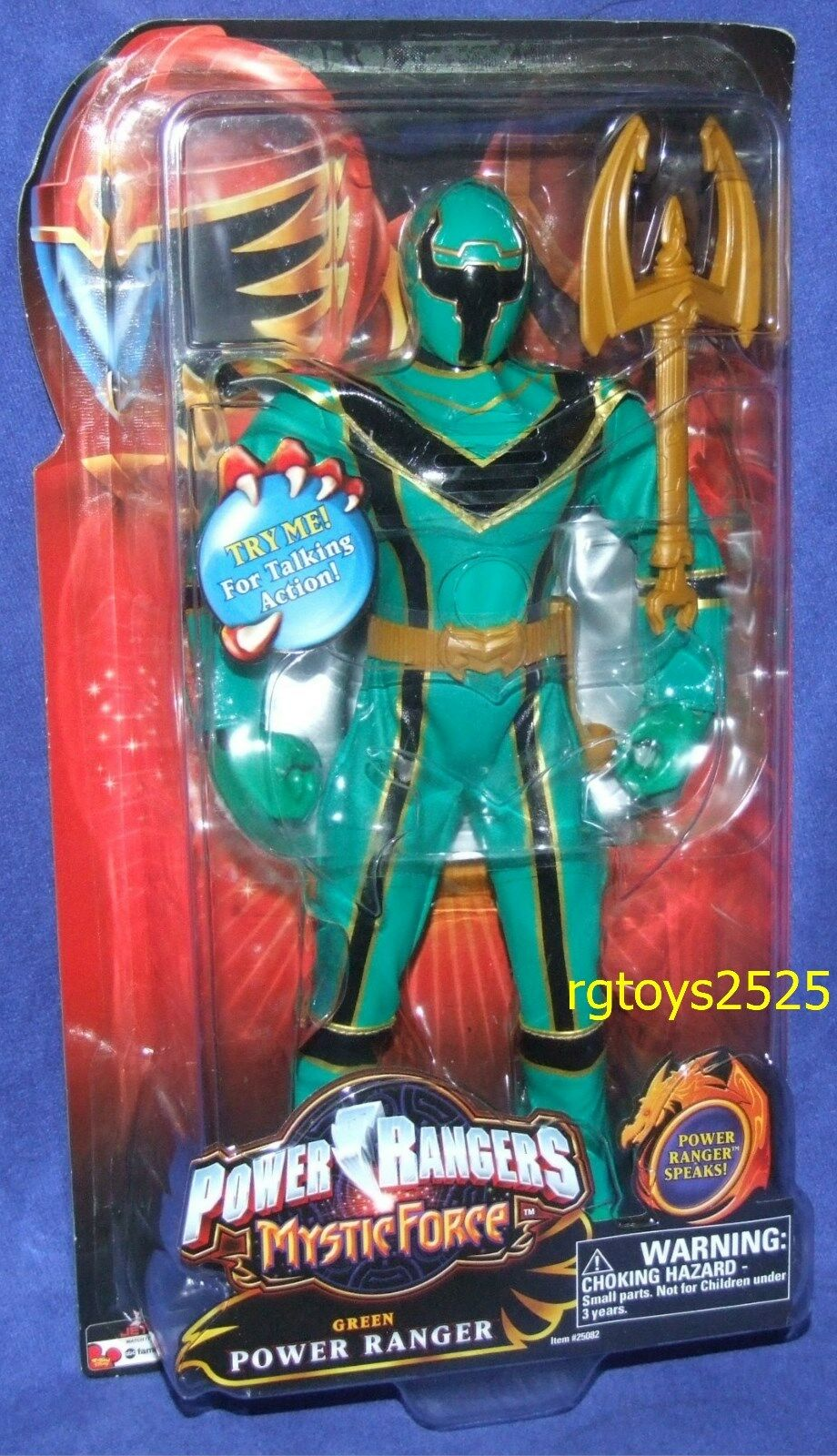 Energia Rangers Mystic  Force verde 12  Ranger  nuovo Talre Factory Sealed 2006  si affrettò a vedere