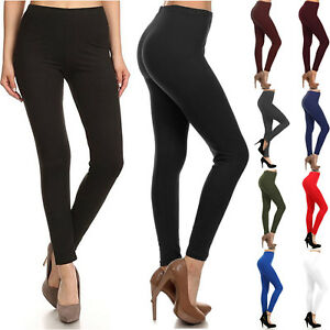 Buttery-Soft-Long-Leggings-Solid-Plain-Butter-Womens-Stretch-Tall-Curvy-OS-TC