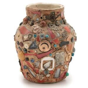 Memory Jug Spirit Jar Folk Art Vase circa 1900-1950