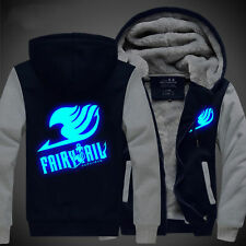 Jacket Sweater Hoodie Luminous Unisex Clothing coat Anime Fairy Tail Thicken