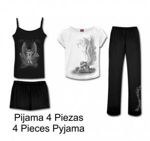 Détails sur Dto 20 % ! Pyjama Femme 4 Pièces Spiral Enslaved Angel DT195422 Vêtements de