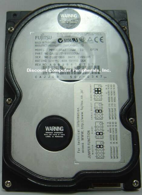Fujitsu MPD3108AT 10GB 3.5in IDE Drive  Tested Good Free USA Shipping