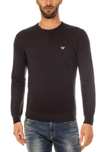 1200 Uomo 6x6mf56m0lz Sweater Pullover Nero Aj Lana Maglia Jeans Maglione Armani xZw0nnq1v