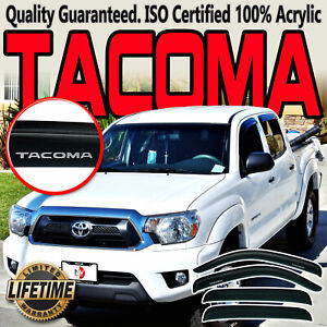 2005-2015 In-Channel Vent Visors Toyota Tacoma Double Cab 4 Door