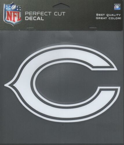 """Chicago Bears White C logo  Sticker NFL 7 1//2/"""" New Perfect Cut Decal"""