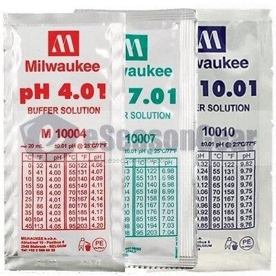 3x 20ml pH 4 + 7 + 10 Buffer Solution - for Digital Meter/Tester Calibration