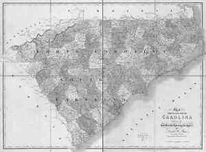 1839 Nc Map Canton Cajah S Mountain Carolina Beach North Carolina