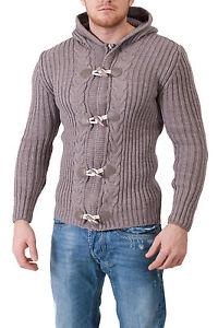 maglia a maglia da Sweate lavorato maglia Maglione Brown a uomo a Fitness Winter lavorato Maglione pesante 8gxAEnqT55