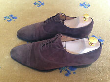 GUCCI Scarpe Da Uomo Marrone in Pelle Scamosciata Con Lacci Brogues UK 7 US 8 41 ORIGINALI MADE IN ITALY