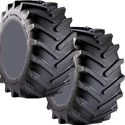 Two 23x8.50-12 Carlisle Tru Power Lawn Mower Garden Tractor Lug Tires 23 850 12