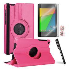 Google Nexus 7 2nd 360 Swivel PU Leather Case+Free Matte Screen Protector/Stylus