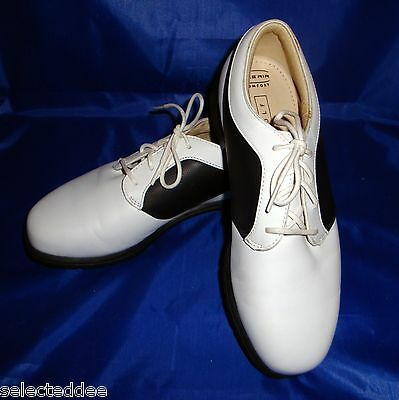 Womens Nike Air Size 6 Comfort Golf Shoes White Black Plastic Cleats Verdana