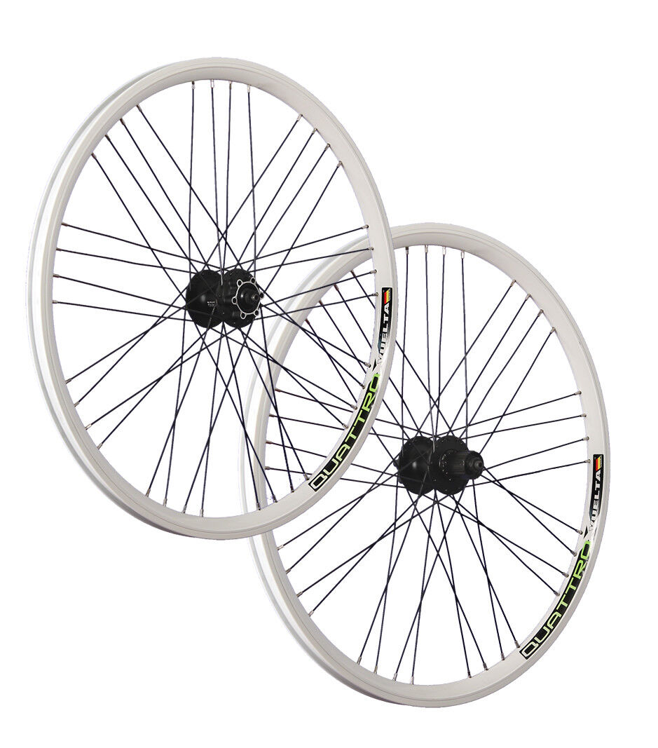 VUELTA 26inch bike wheel set Airtec1 Shimano Deore disc HB   FH-M525 white