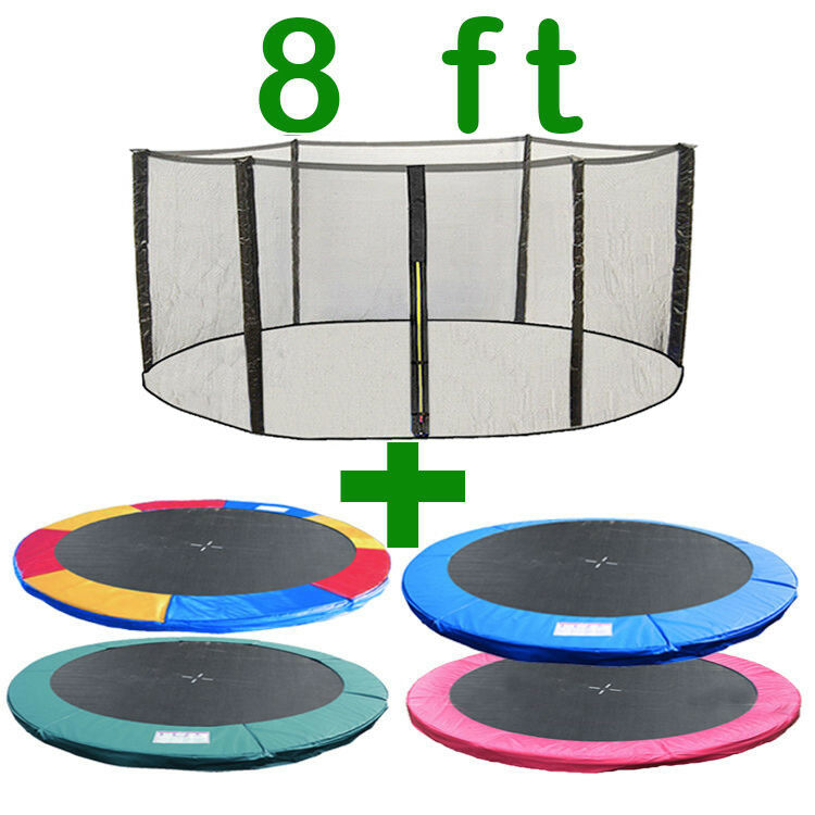 8 FT TRAMPOLINE REPLACEMENT SAFETY NET PADDING SPRING COVER PAD ENCLOSURE