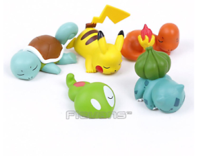 Pokemon 5pcs sleep figure pikachu charmander bulbasaur squirtle caterpie toys
