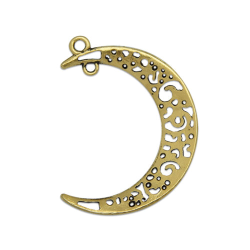 Hollow Crescent Moon Charms Pendant Dangle Hanging Charms Connectors 50 M064