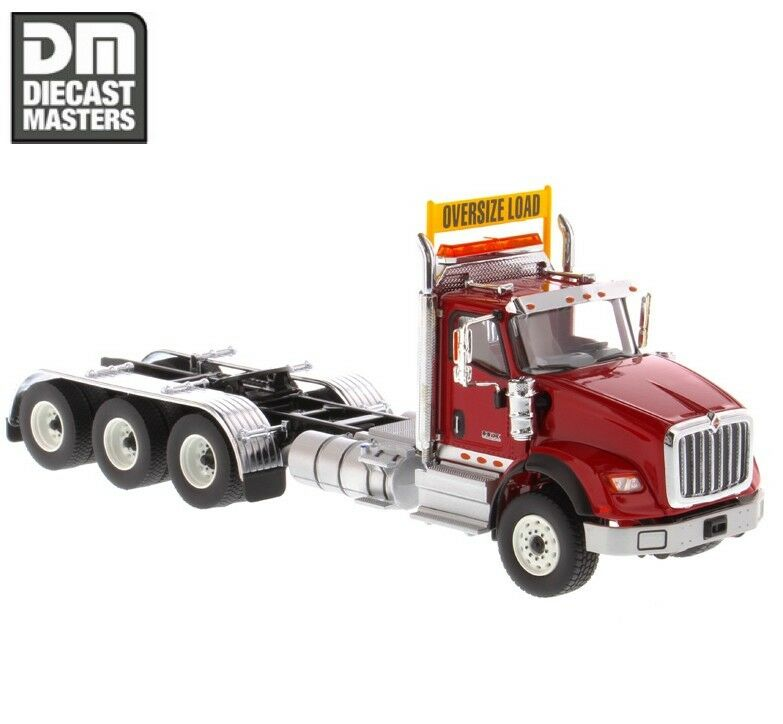 1 50 DIECAST MASTERS 71008 INTERNATIONAL HX620 DAY CAB TANDEM TRACTOR IN rouge