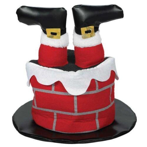 Santa Chimney Hat Christmas Fancy Dress Funny Comedy Brick Feet Stuck