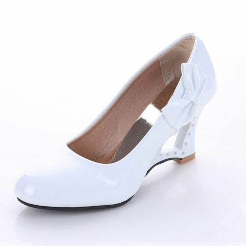 Ladies Stiletto High Heels Shoes Women/'s Strange Heart Thick Heel Pumps Footwear
