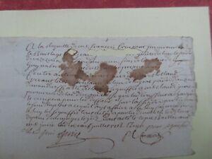 Acheter Pas Cher Deux Très Anciens Papiers Avec Le Cachet De L'auvergne Daté De 1762 Et ? Rare