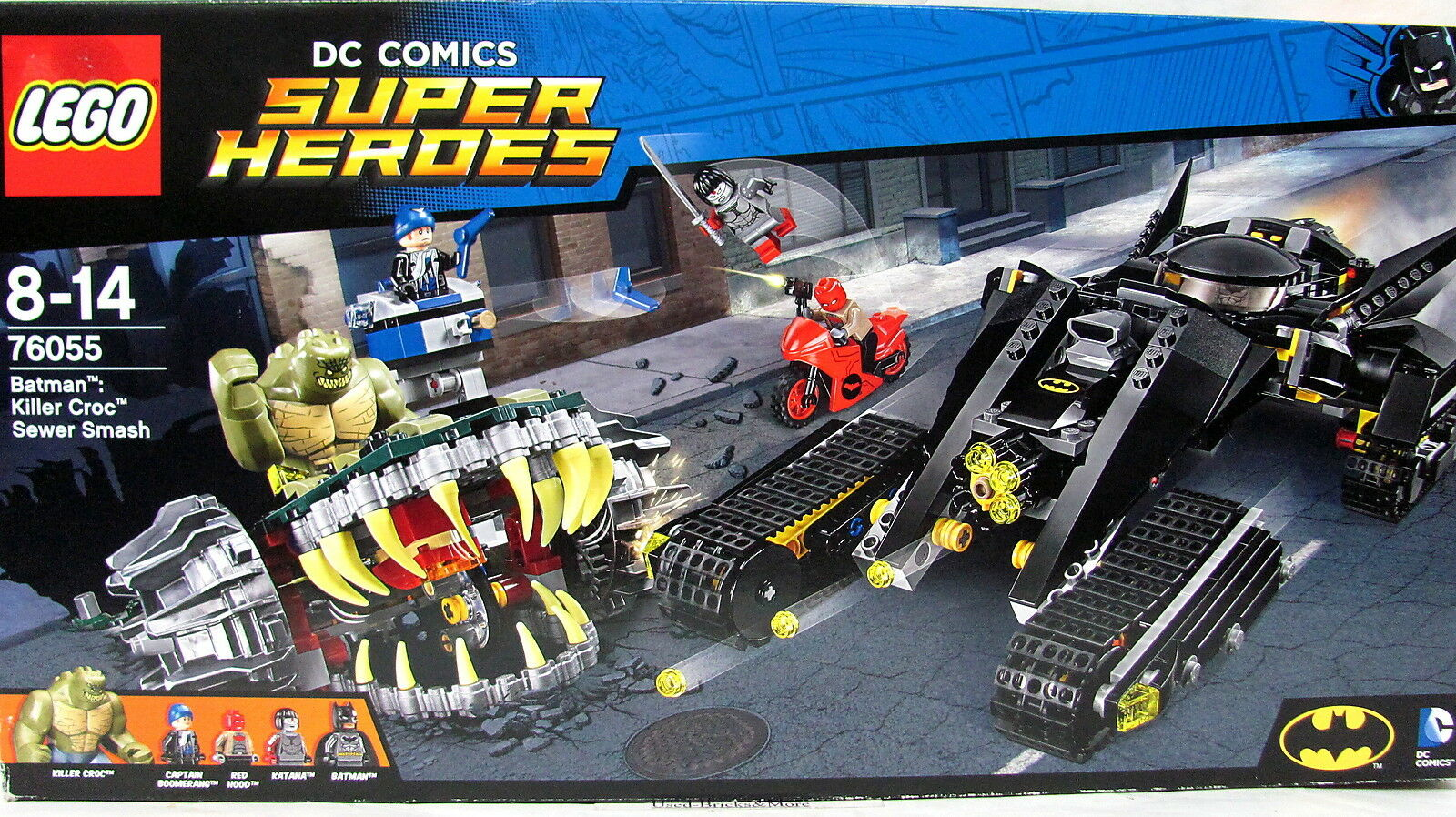 LEGO® 76055 DC Universe Super Heroes Batman Killer Crocs Überfall NEU&OVP´2016
