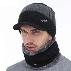 Chapeau-d-039-hiver-echarpe-Pour-Hommes-Femmes-Crane-Bonnet-Chaud-Ski-Chapeau-Masque-Knit-Outdoor