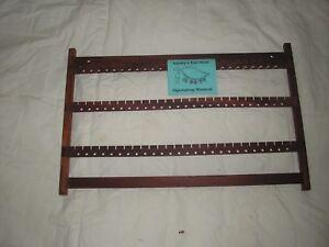 Image Is Loading Wood Earring Rack 173 Paduck Wall Mount
