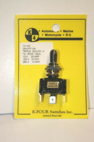 """SPST ON//OFF 12VDC #66-2038-5PK ILLUMINATED TOGGLE SWITCH /""""RED/"""" 20AMPS"""