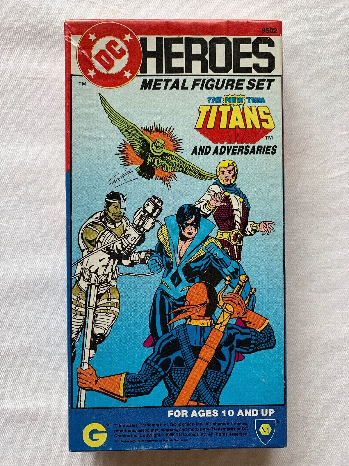 1985 DC Heroes Metal Figure Set - The New Teen Titans and Adversaries