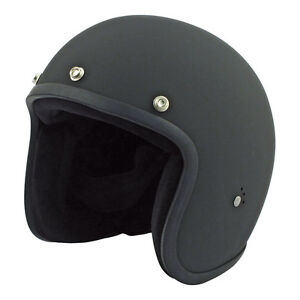 Casco-Bandit-Jet-ORIGINALE-Nero-Opaco-Harley-Cafe-Racer-Chopper-Bobber-Vintage