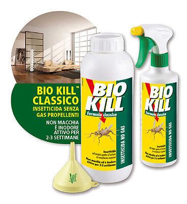 BIO KILL INSETTICIDA NO GAS  da 500ml o RICARICA da 1 litro