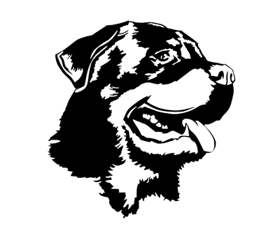 Rottweiler Vinyl Decal Car Window Laptop Dog Breed Silhouette Sticker