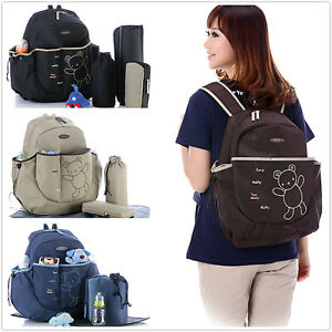 New pretty Baby Diaper Nappy Bag Backpack mummy bag 4 colours(1837)