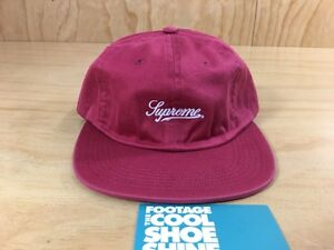 Details about Supreme Script Logo 6-Panel Fitted Hat Red SS16 2016 L Large  CDG TNF 57bc0908d0c