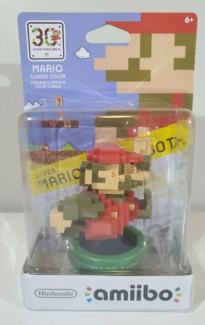 8-Bit Mario Modern Color Amiibo Nintendo NA Release 1st Print Run 3DS WiiU 30th