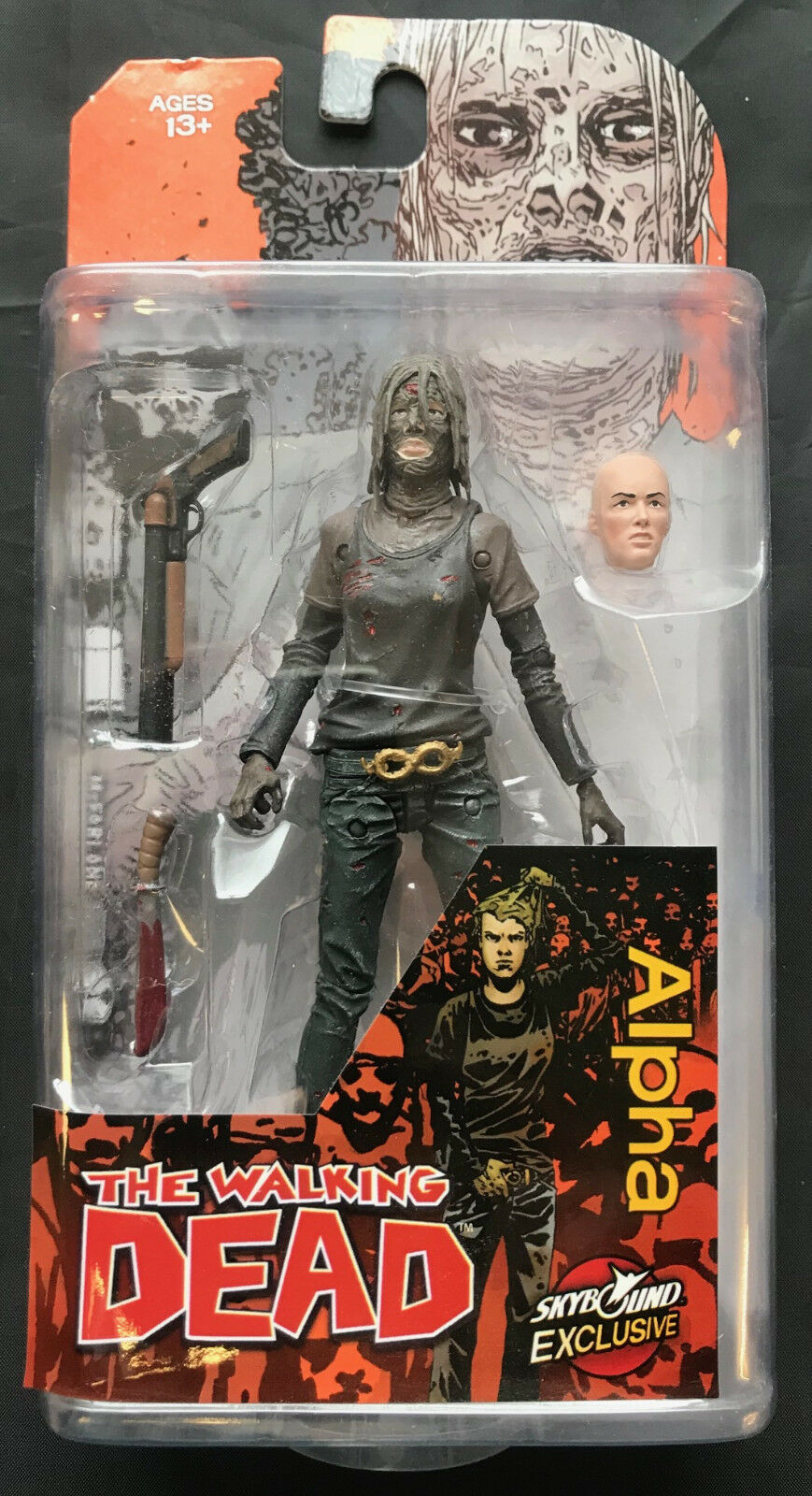 McFARLANE THE WALKING DEAD ALPHA SKYBOUND EXCLUSIVE BLOODY COLOUR ACTION FIGURE
