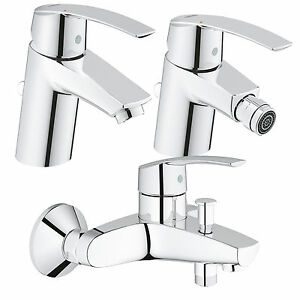 Miscelatori bagno rubinetteria Grohe Start serie completa lavabo ...