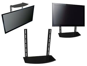 Image Is Loading Gl Shelf Above Below Under Tv Wall Mount