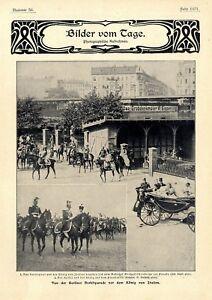 Berliner Herbstparade Bahnhof Großgörschen Kaiser Wilhelm Ii.& Ital.könig C.1902 Niedriger Preis Sonstige Sammeln & Seltenes