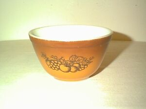 NICE VINTAGE PYREX OLD ORCHARD MIXING / NESTING BOWL 1 1/2 PINT ...